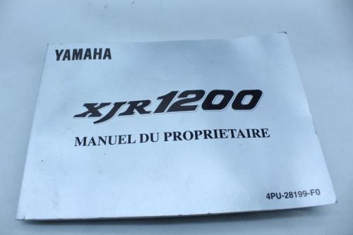 Manuel d'utilisation YAMAHA 1200 XJR 1993 - 1998