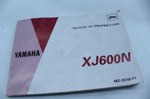 Manuel d'utilisation YAMAHA XJ 600 N DIVERSION 1992 - 2003