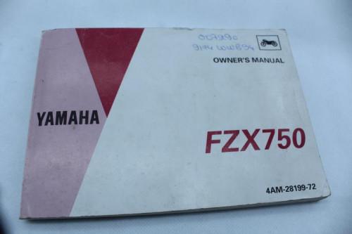 Manuel d'utilisation YAMAHA FZX 750 1992 - 1997