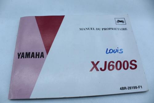 Manuel d'utilisation YAMAHA XJ 600 S DIVERSION 1992 - 2003