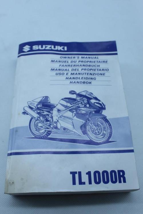 Manuel d'utilisation SUZUKI TL 1000 R 1998 - 2002