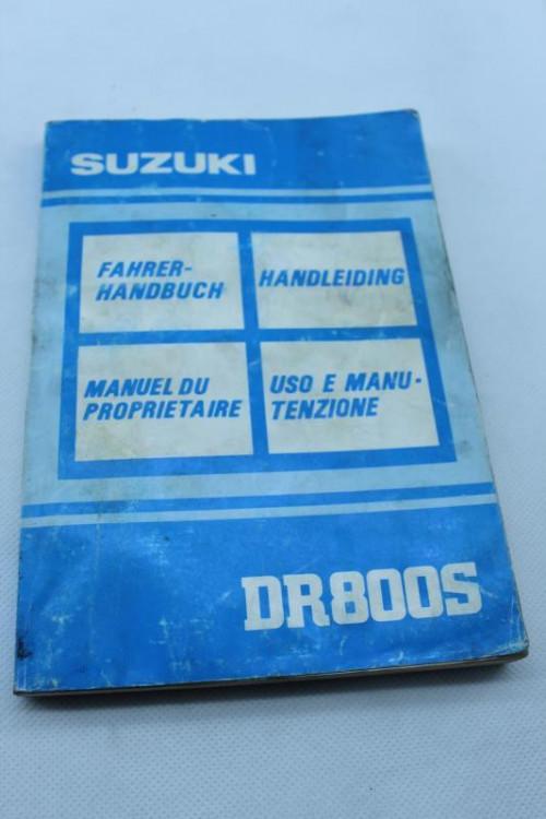 Manuel d'utilisation SUZUKI DR 800 S 1991 - 1997