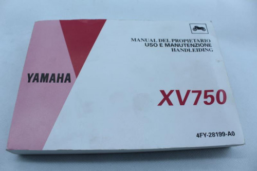 Manuel d'utilisation YAMAHA XV 750 VIRAGO 1985 - 1996