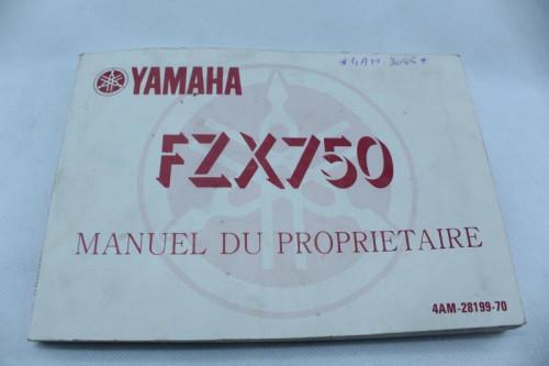 Manuel d'utilisation YAMAHA FZX 750 1988 - 1991
