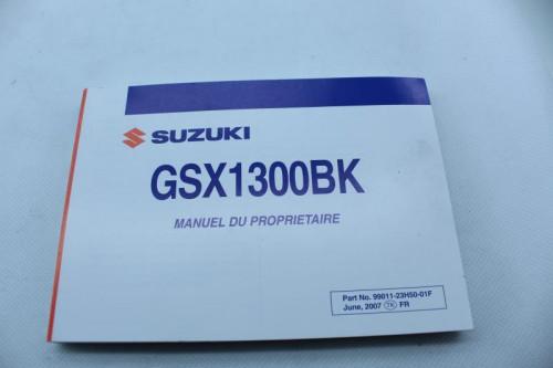 Manuel d'utilisation SUZUKI GSX 1300 BKING 2008 - 2012