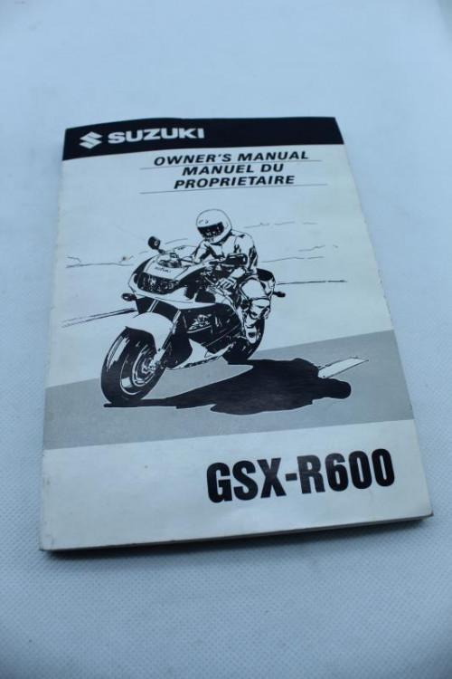 Manuel d'utilisation SUZUKI 600 GSXR 1996 - 1997