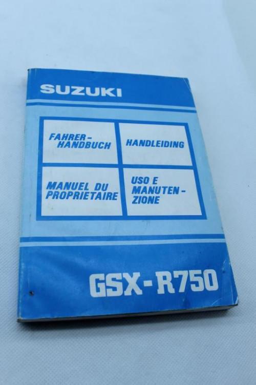 Manuel d'utilisation SUZUKI 750 GSXR 1991 - 1992
