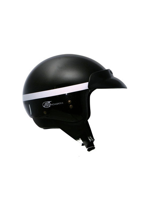 CASQUE GPA SMOOTH NOIR METAL XS