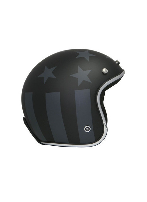 CASQUE GPA CARBON LEGEND AMERICA NOIR MAT/GRIS ALU XL