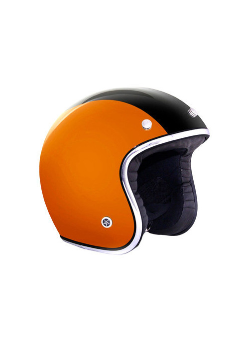 CASQUE GPA CARBON LEGEND NOIR BANDE ORANGE BRILLANT XL