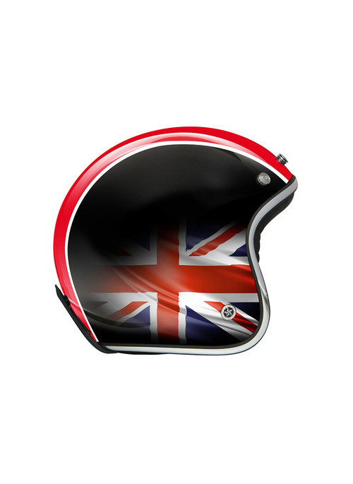 CASQUE GPA CARBON LEGEND UNION JACK NOIR BRILLANT S
