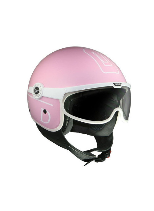 CASQUE GPA UNITED HERITAGE ROSE BRILLANT/BLANC XS